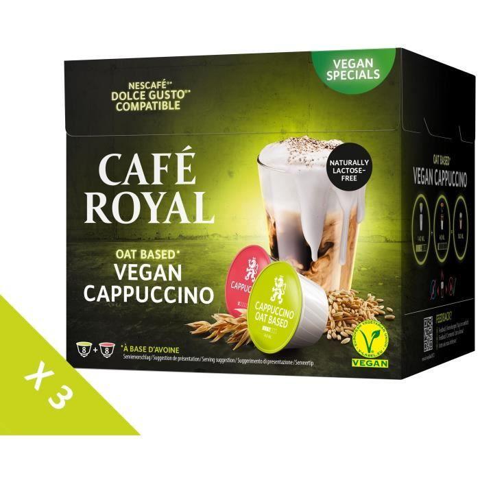 [Lot de 3] CAFE ROYAL Café Compatible Dolce Gusto Cappuccino Lait d'Avoine x16