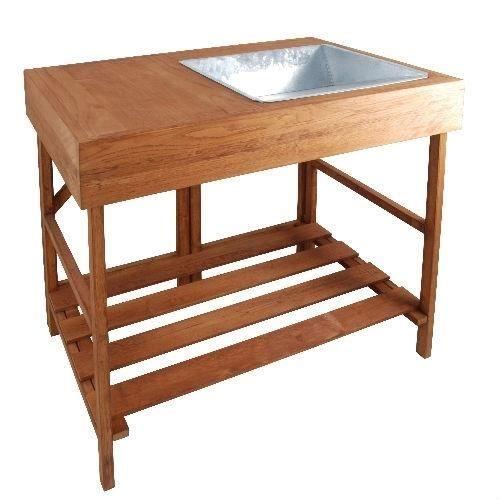 Esschert Design Table d'empotage Bois dur GT35