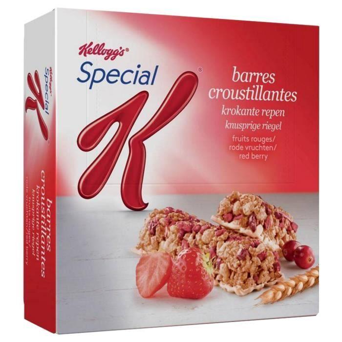 Kellogg's Spécial K Barre Fruits Rouges 30 barres (lot de 10)