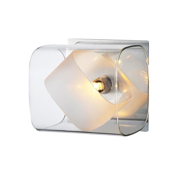 Applique décorative Transparent 40 W - G9 40W CHR+VERRE HL150009