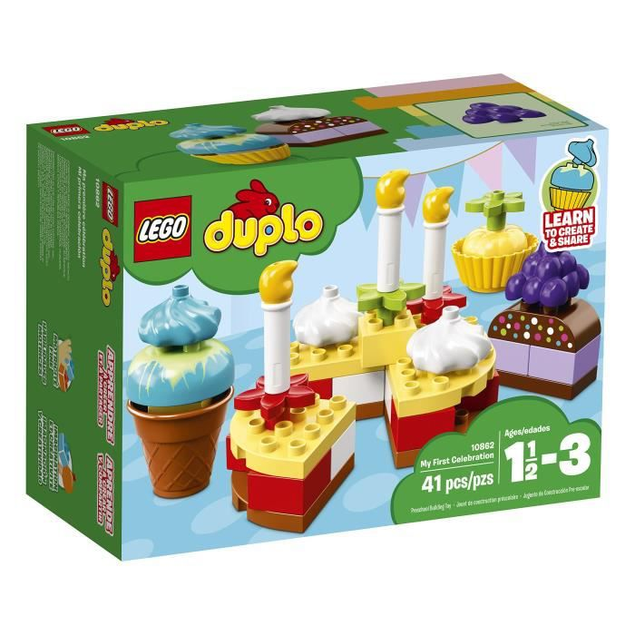 Lego Duplo My First Celebration Pour les enfants des blocs de construction de 1,5 à 3 ans (41 Pcs) 10862 B7P18