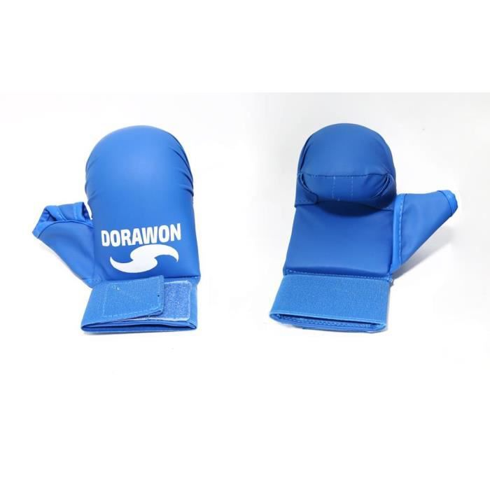 DORAWON, Mitaines de karaté avec pouce OSAKA , bleu