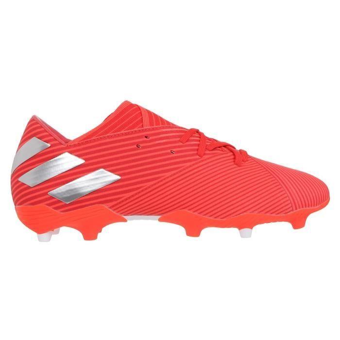 ADIDAS PERFORMANCE Chaussures de Football Nemeziz 19.2 FG - Enfant - Rouge/Argent