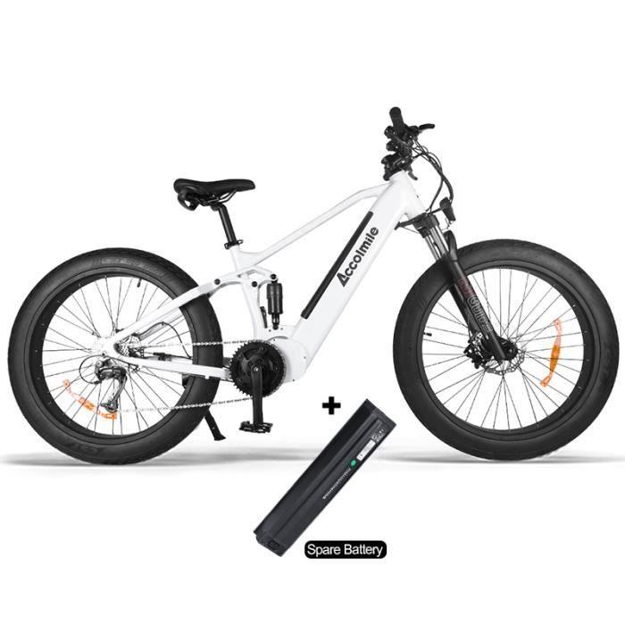 ACCOLMILE Vélo à assistance électrique 1000W équipé avec une batterie amovible