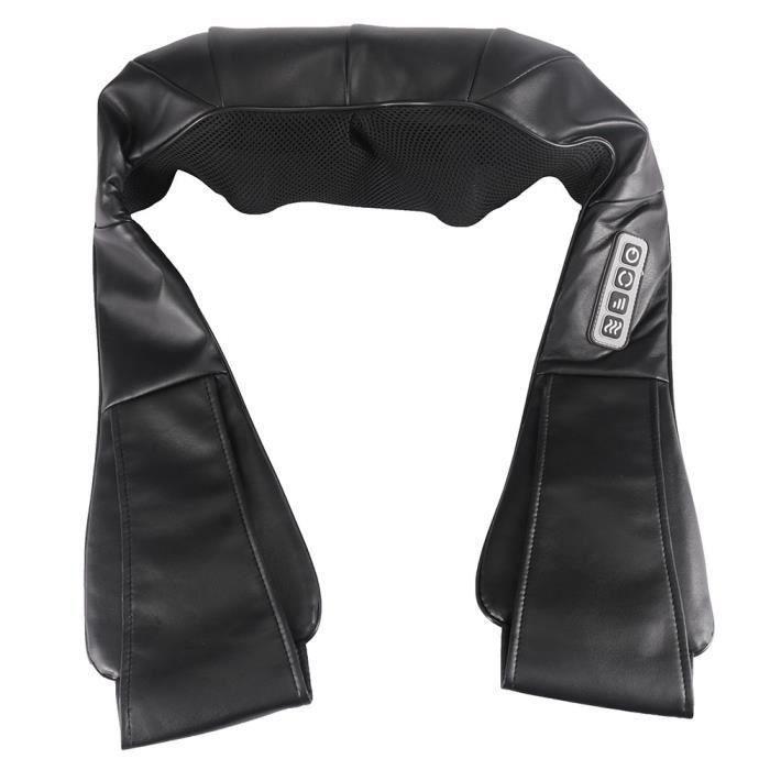 Appareil de massage shiatsu épaule cervicale fonction chauffante 24W 3 programmes sans fil 44L x 26l x 14H cm noir 67