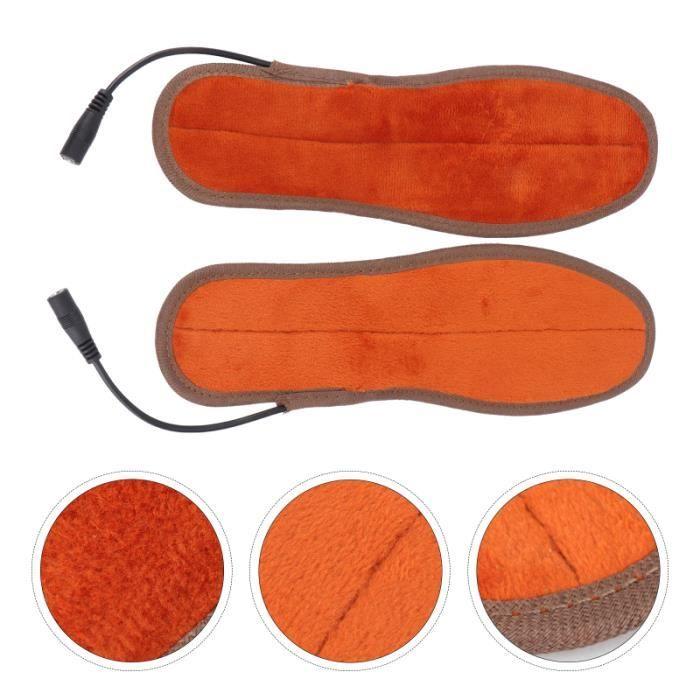 1 paire de Semelles Chauffantes USB Chauffe-Chaussures Semelle coloration - decoloration - accessoire de pose capillaire