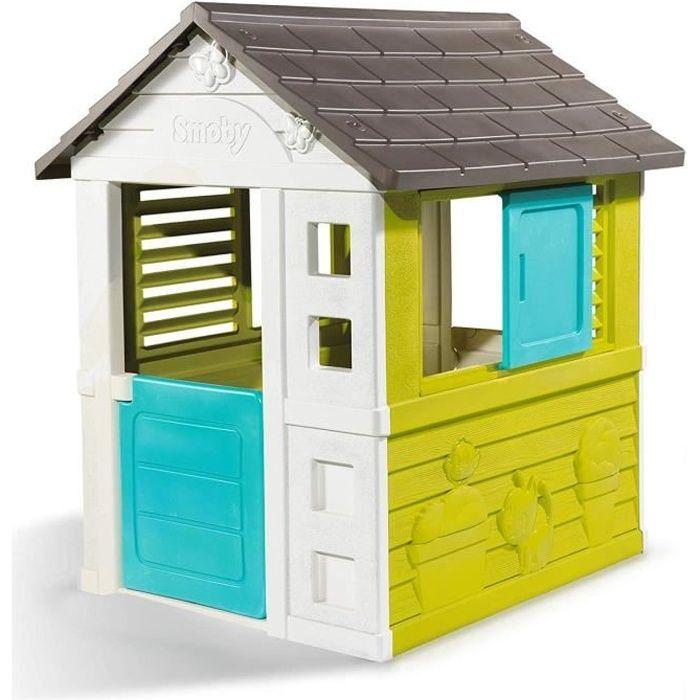Maison de Jardin Pretty en plastique anti-UV SMOBY avec 2 Fenêtres
