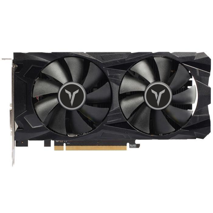 Yeston RX560D-4G D5 GAEA Carte Graphique Double Ventilateur de Refroidissement 4 Go de MéMoire GDDR5 128 Bits DP + HD + DVI-D GPU