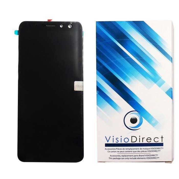 Ecran complet pour Wiko View Prime 5.7- Telephone portable noir vitre tactile + Ecran LCD - Visiodirect