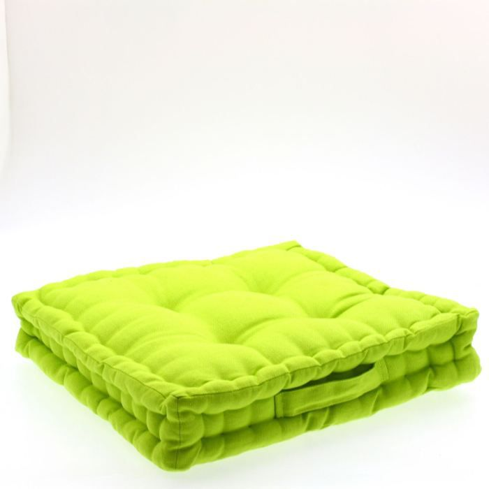 coussin de sol vert anis achat vente coussin cdiscount. Black Bedroom Furniture Sets. Home Design Ideas