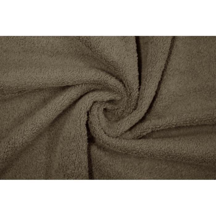 TISSU Tissu Éponge Bulky Taupe -Au Mètre
