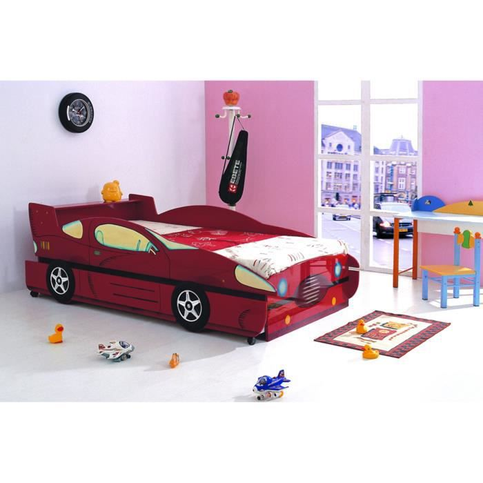 lit voiture gigogne rouge laqu galaxy achat vente lit gigogne lit voiture gigogne rouge l. Black Bedroom Furniture Sets. Home Design Ideas