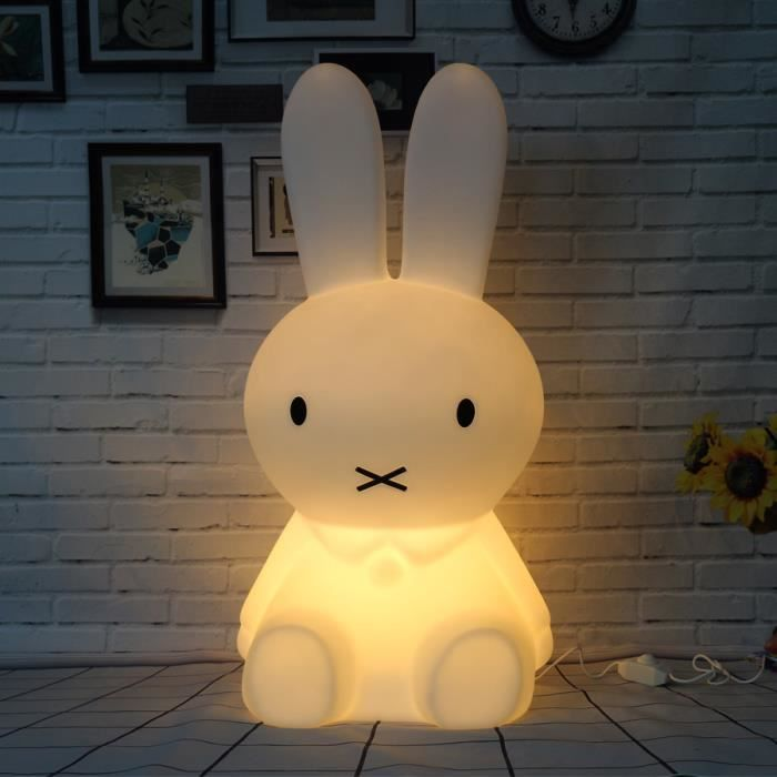 50 cm lapin led nuit lumi re dimmable pour enfants b b for Lampe de chevet chambre bebe