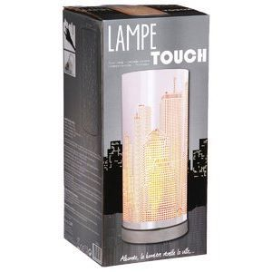 lampe touch new york violet 103400 achat vente lampe. Black Bedroom Furniture Sets. Home Design Ideas