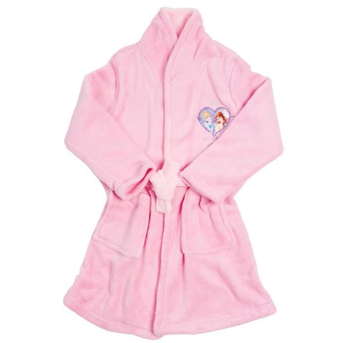 robe de chambre fille princesses pyjama enfant rose achat vente pyjama chemise de nuit. Black Bedroom Furniture Sets. Home Design Ideas