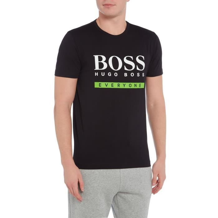 hugo boss t shirt homme everyone manches courtes noir achat vente t shirt soldes d s. Black Bedroom Furniture Sets. Home Design Ideas