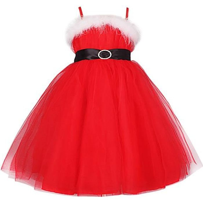 ROBE Robe de Noël fille enfant - Robe longue Fête de No