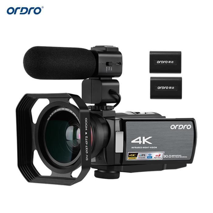 Caméscope Caméra Numérique 4K Ultra HD 48MP Zoom x16 Ecran tactile WiFi CMOS Fr