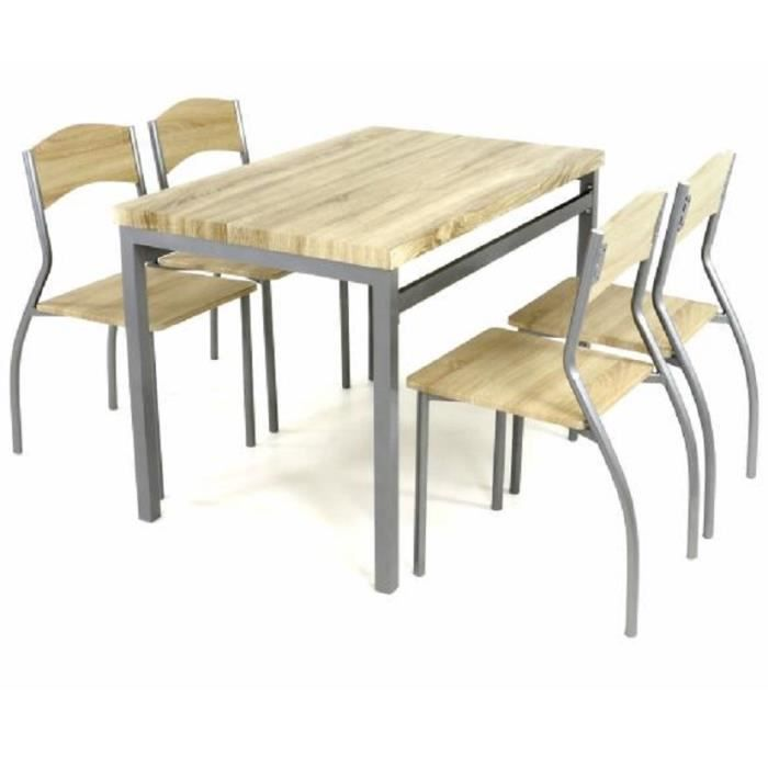 4 chaises disign bois table manger 110 cm achat for Table a manger chaises