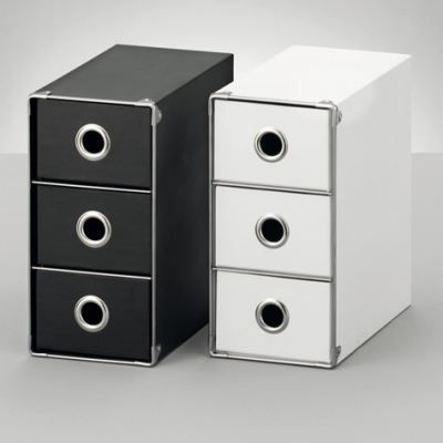 coffret de rangement 3 tiroirs noir achat vente. Black Bedroom Furniture Sets. Home Design Ideas