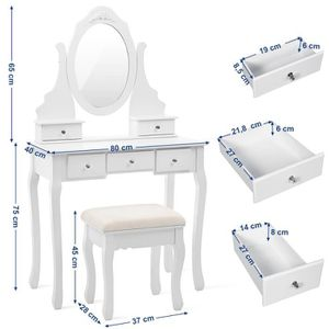 coiffeuse blanche achat vente coiffeuse blanche pas cher cdiscount. Black Bedroom Furniture Sets. Home Design Ideas