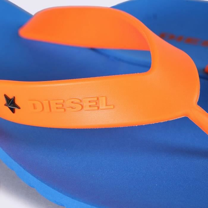Tongs homme fashion Splish bleu orange