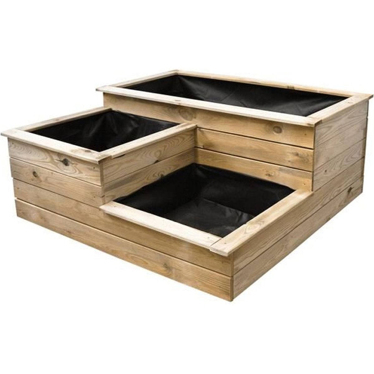 carr potager 3 bacs en bois achat vente carr potager. Black Bedroom Furniture Sets. Home Design Ideas