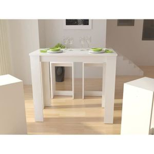 William table bar blanc achat vente mange debout william table bar blanc - Table mange debout blanc laque ...
