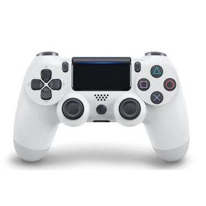MANETTE JEUX VIDÉO Manette DualShock Pour PS4 Blanc Sans Fil avec Pav