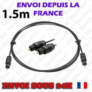 CÂBLE TV - VIDÉO - SON Câble Optique Toslink 1.5m
