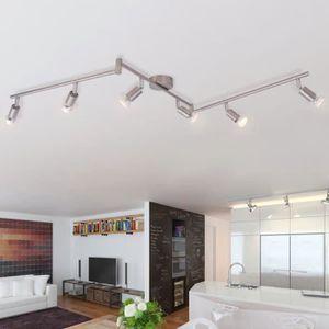 LUSTRE ET SUSPENSION Lampe de plafond avec 6 LED en nickel satiné lumiè