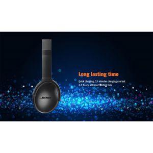 CASQUE - ÉCOUTEURS Casque Bluetooth 4.2 stéréo sans fil - BOSE QC35 -