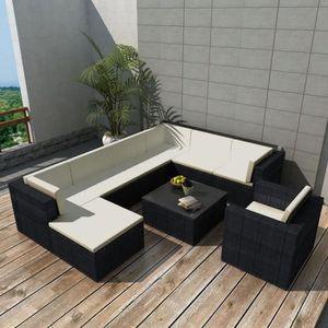 Salon jardin resine noir