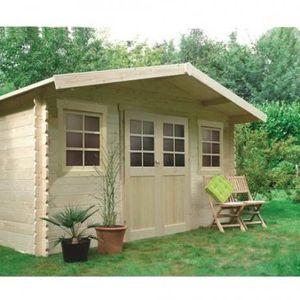 ABRI JARDIN - CHALET DOLE 10m² oiture oit standard (roofing), Plancher