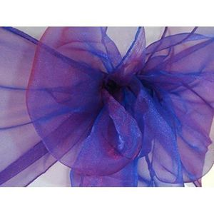 CHEMIN DE TABLE 10 Violet Pourpre Organza Chemins De Table Pour Ma