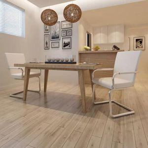 TABLE DE CUISINE  vidaXL 2 pcs Chaise de salle à manger Cuir synthét