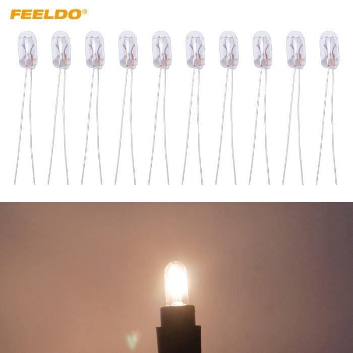 ampoule halogène pour tableau de bord T5 12V 1.2W, pièces de rechange pour lampe halogène externe AM2698 [993F96B]