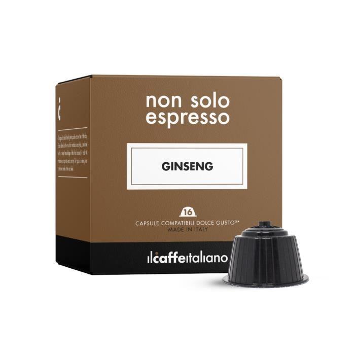 48 capsules compatible Nescafé Dolce Gusto - Soluble dans le goût de Ginseng - Il Caffè Italiano