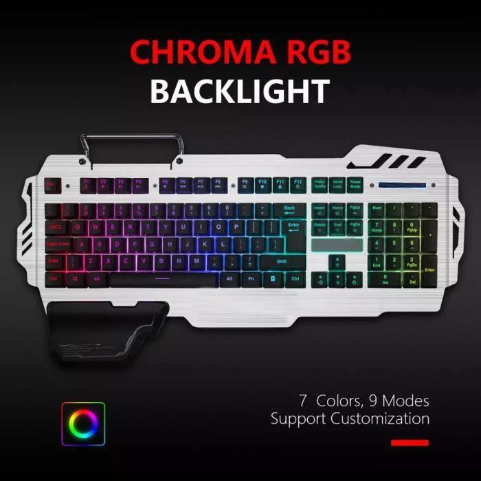 (français)K900 Clavier semi-mécanique, clavier lumineux, dispositif de rétroéclairage