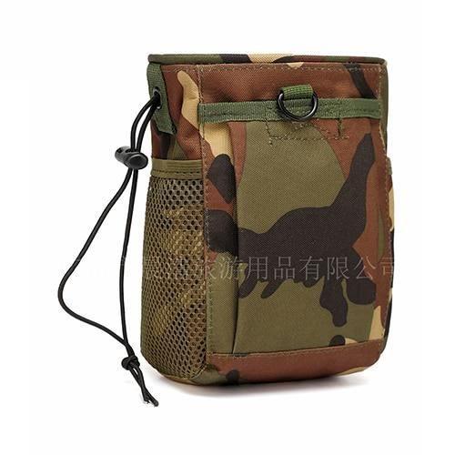 jungle camo -Sac de cartouche en plein air Airsoft Durable taille poche chasse cordon tactique Oxford Camping EDC Molle poche taille