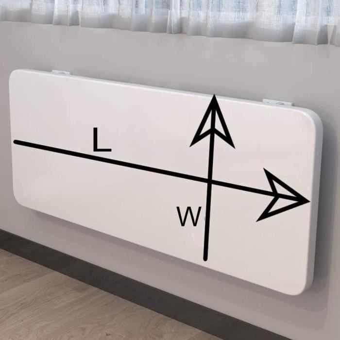 Table Murale Rabattable,Table à Manger Pliable pour Petit Appartement,Ajout Parfait à Rem de Garage-Bureau à Domicile-Buanderie-464