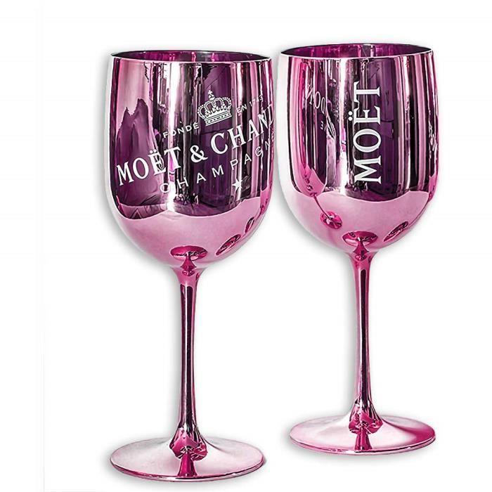 2 Moët & Chandon Ice Imperial coupes de champagne Rose