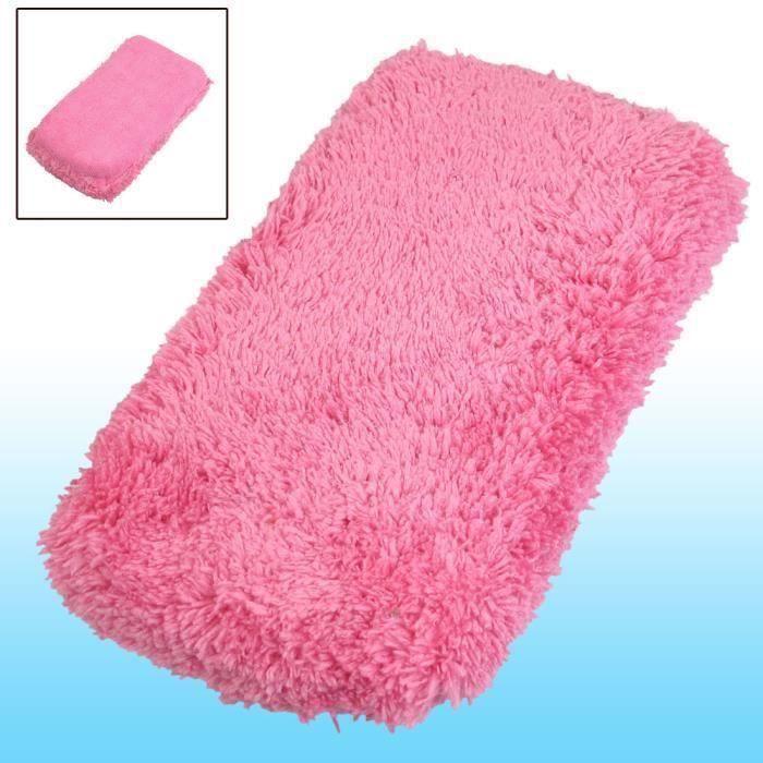 EPONGE - PEAU DE CHAMOIS - MICROFIBRE - CHIFFON Fuchsia 2 en 1 en microfibre pour lavage de voiture automatique à tampon éponge
