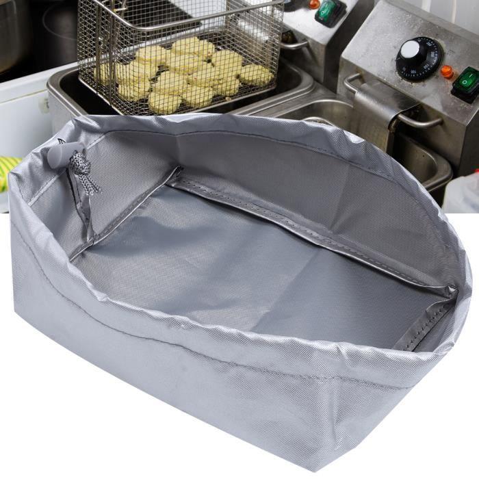20x15x8cm Housse de protection extérieure pour machine à frire 420D Oxford pour friteuse(argent)
