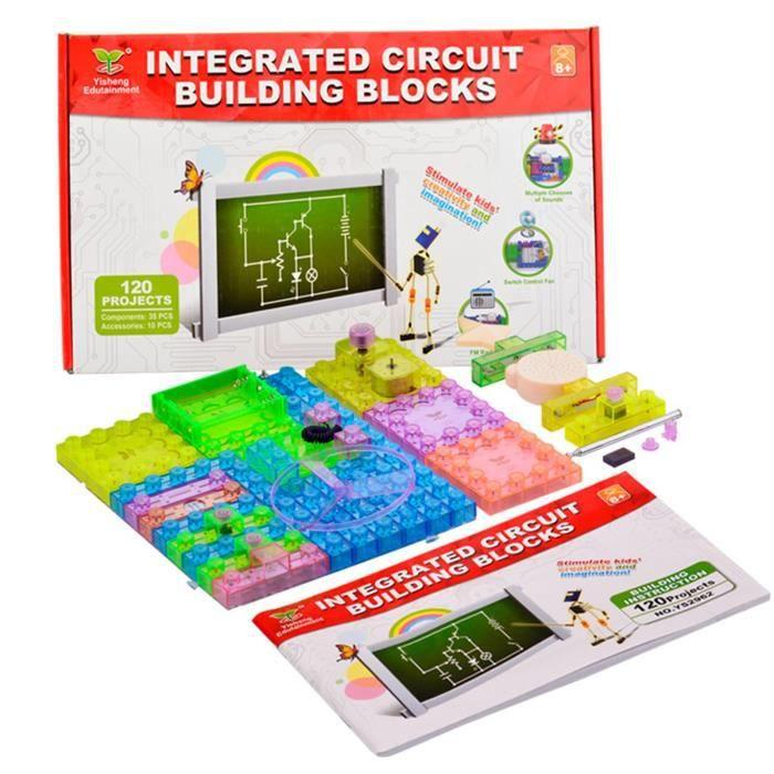 Jouet d'expérimentation scientifique de bloc de construction d'assemblage de circuit multifonctionnel - sjizua 3519