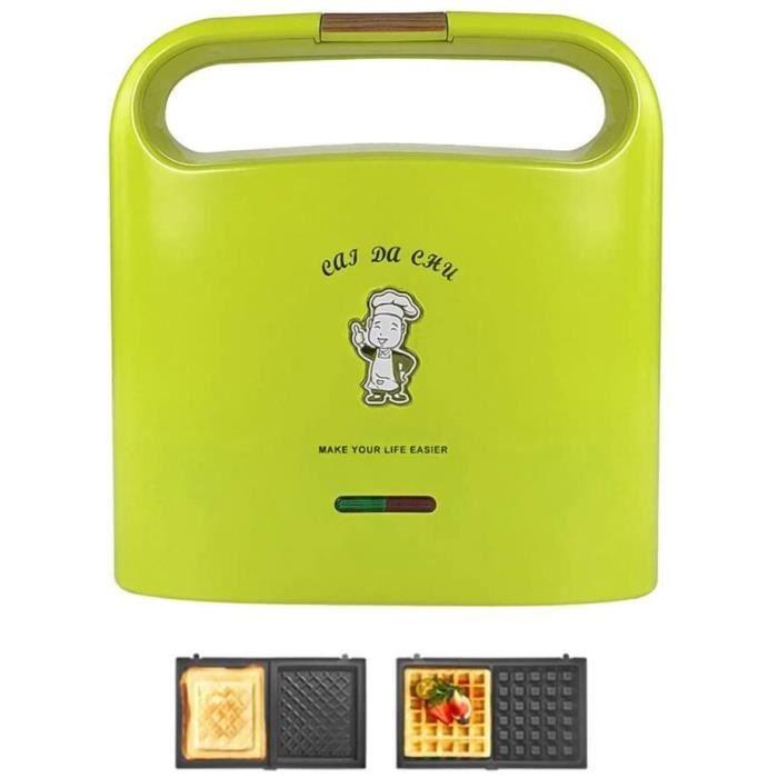 GAUFRIER FZYE Machine à Petit-d&eacutejeuner Sandwich Maker, Mini Panini Presses Gaufrier, Couple Toastie Maker Non-Stick257