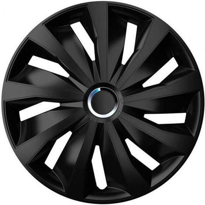 AutoStyle Enjoliveurs Grip Pro 16 pouces ABS noir lot de 4