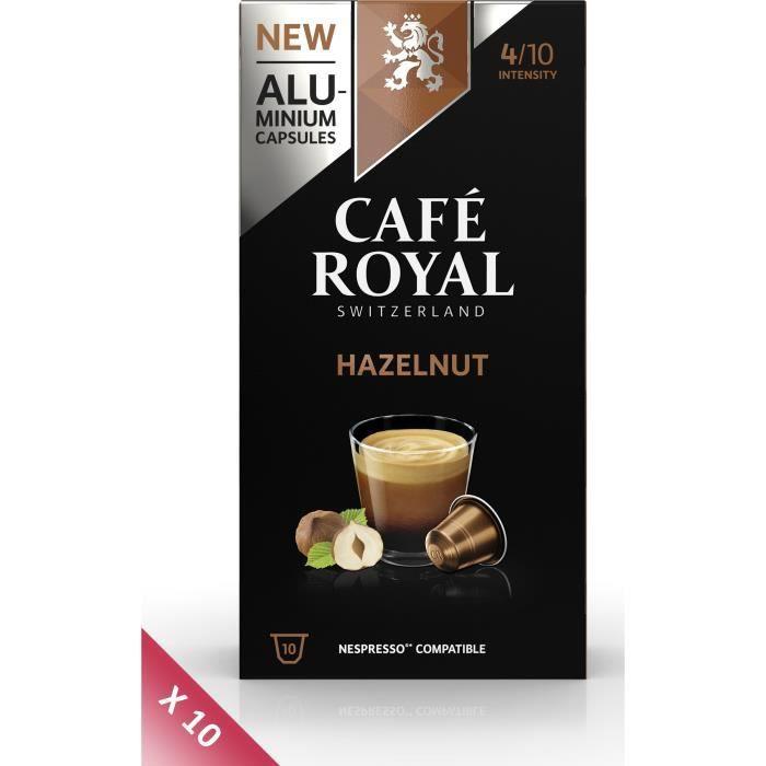 Lot de 10 CAFE ROYAL compatible Nespresso Alu Noisette x10