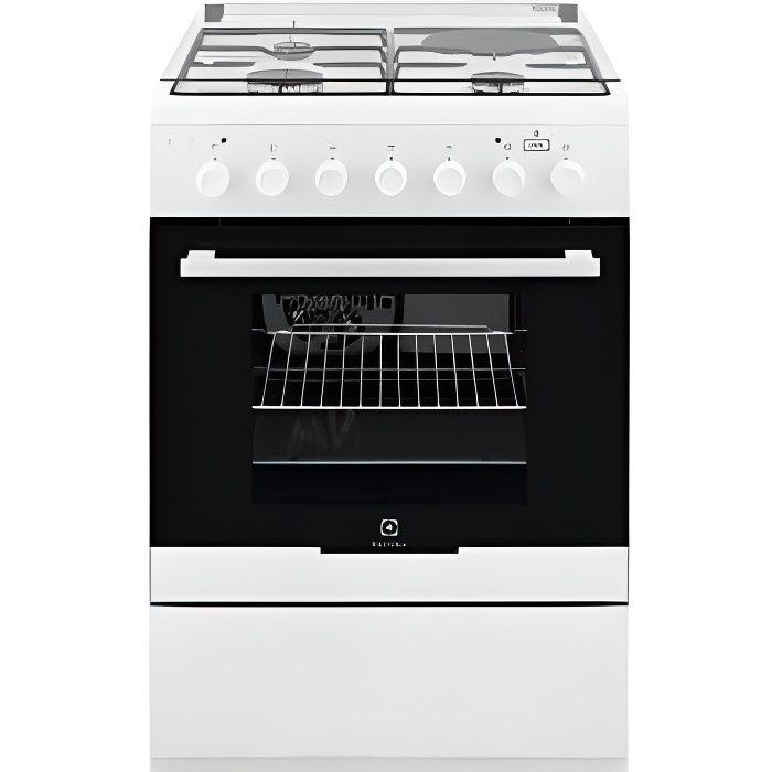 ELECTROLUX Cuisinière 60x60 - TABLE: Mixte gaz / électrique - 3 foyers gaz + 1 foy