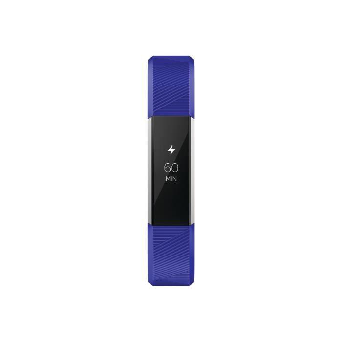 Fitbit Ace Acier inoxydable suivi d'activités avec bande élastomère electric blue taille de bande 127-161 mm monochrome